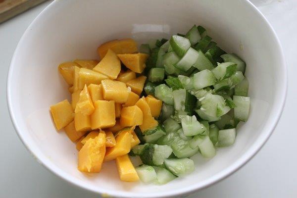 Mango Cucumber Salsa step 2