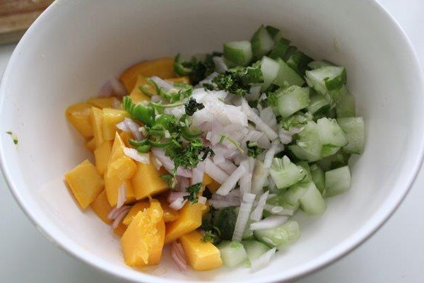 Mango Cucumber Salsa step 4