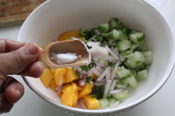 Mango Cucumber Salsa step 5