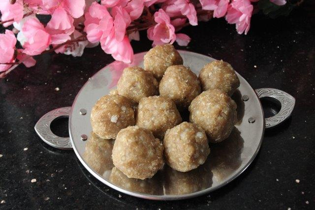 step 18 Rice Sago Sweet Kolukattai