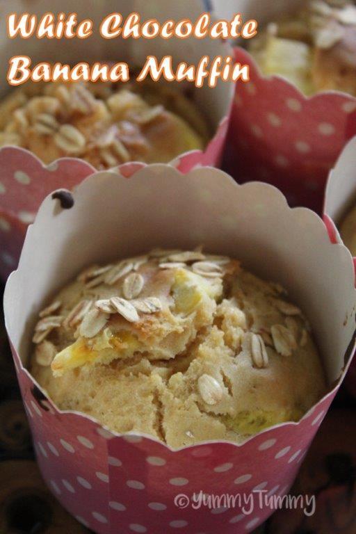 White Chocolate Banana Muffins Recipe