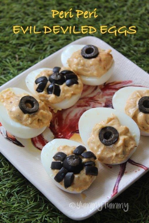 Peri Peri Deviled Eggs