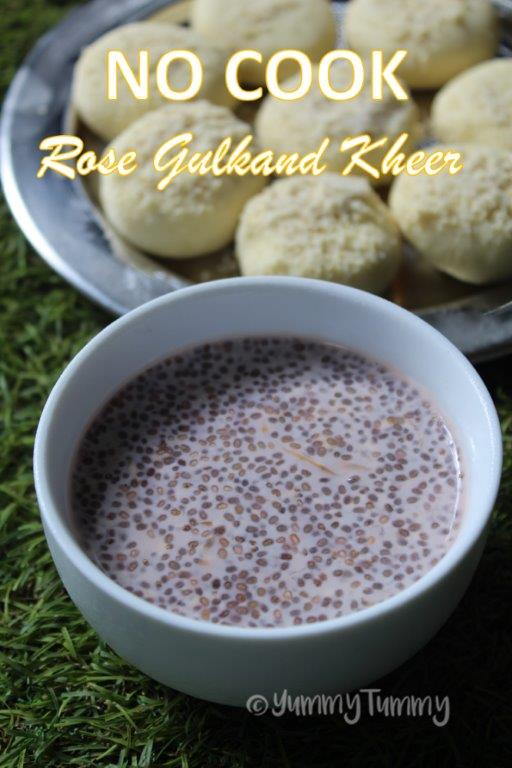 No Cook Rose Gulkand Kheer