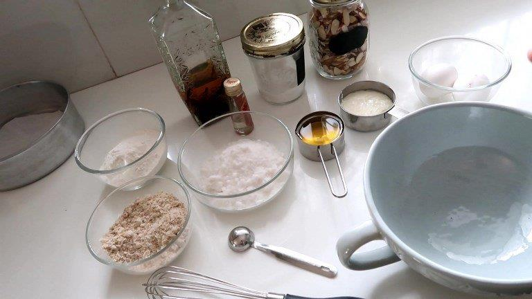 French Almond Cake ingredients