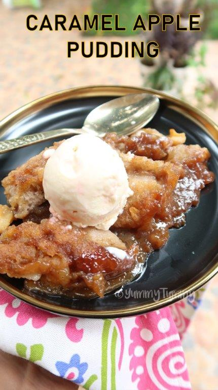 Sticky Caramel Apple Pudding