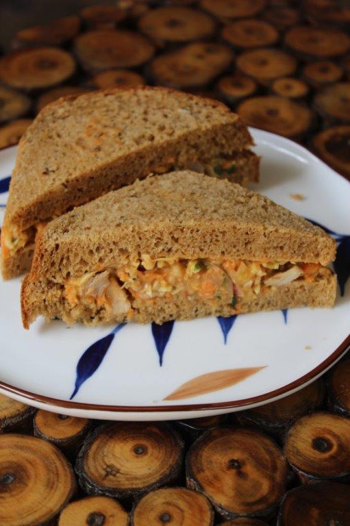 Spicy Chicken Mayonnaise Sandwich