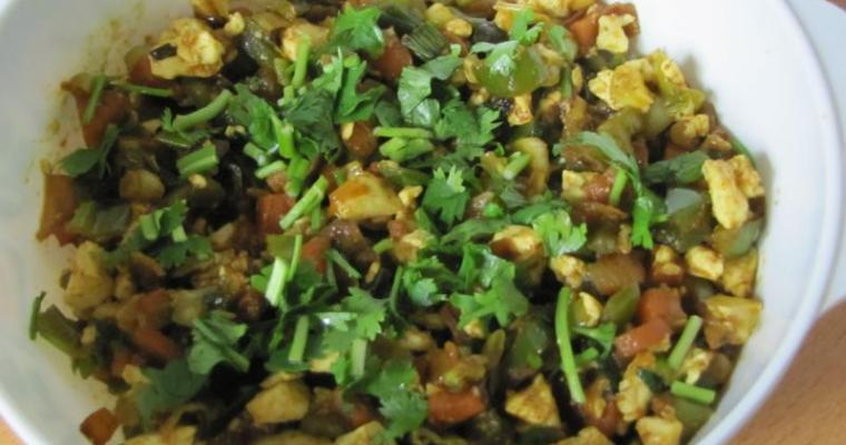 Tofu Bhurjee / Spicy Tofu Scramble
