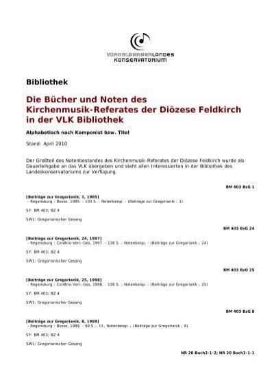 Die Bucher Und Noten Des Kirchenmusik Referates Der Diozese