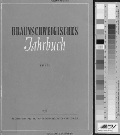 Braunschweigisches Jahrbuch 54 1973 Digitale Bibliothek