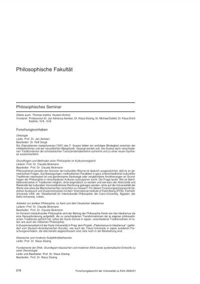 Philosophische Fakultat Universitat Zu Koln