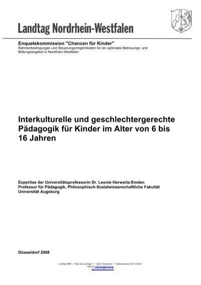 Interkulturelle Und Geschlechtergerechte Padagogik Fur Kinder Im
