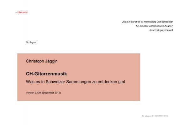 Ch Gitarrenmusik Christoph Jaggin