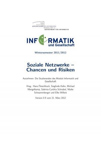 Soziale Netzwerke Chancen Und Risiken