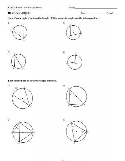 Kuta Worksheet On Angles