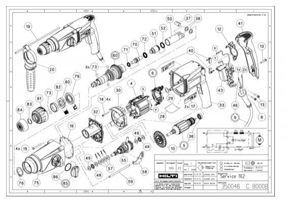 hilti te 14 parts diagram explore schematic wiring diagram u2022 rh webwiringdiagram today Bits Hilti TE 905 Hilti TE 905 AVR Brushes