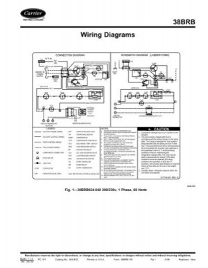 38BRB Wiring Diagrams  Carrier
