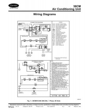38CM Air Conditioning Unit Wiring Diagrams  Carrier