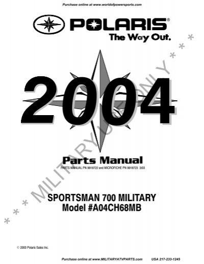 2004 polaris sportsman 700 military