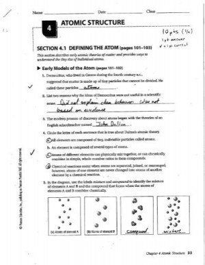 SECTION 41 DEFINING THE ATOM (pages 101103)