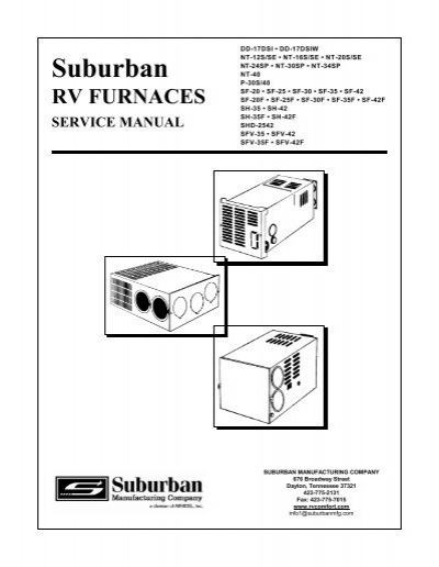 suburban furnace service manual  br wholesale rv  marine
