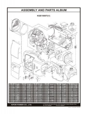 ASSEMBLY AND PARTS ALBUM  Kipor Power Systems
