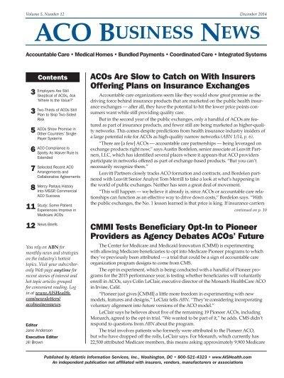 Aco Business News Ais Health