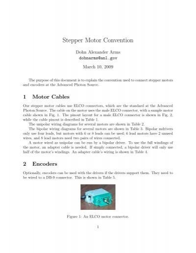 stepper motor convention