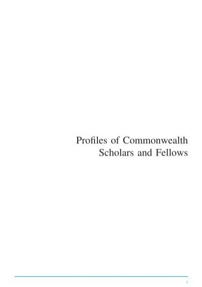 Csfp Profiles Commonwealth Scholarship Commission In The