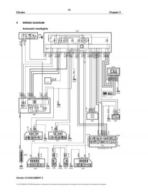 Citroën V WIRING DIAGRAM