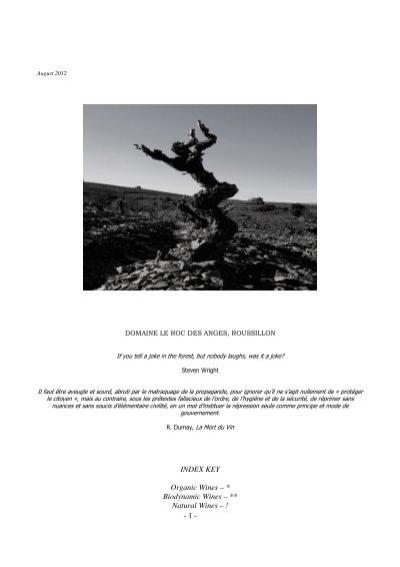 https www yumpu com en document view 9356196 key organic wines biodynamic wines les caves de pyrene