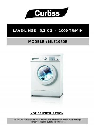 Lave Linge 5 2 Kg A 1000 Tr Min Modele Mlf1050e Electro Depot