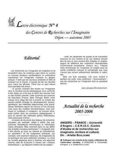 Lettre Electronique N 4 Des Centres De Recherches Sur L Iulm