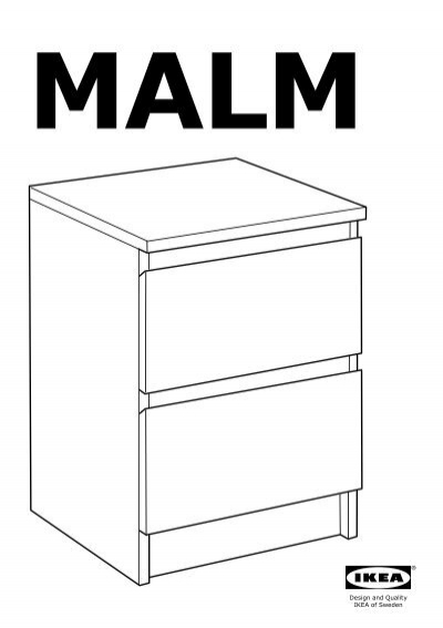 Ikea Malm Commode 2 Tiroirs 80214549 Plan S De Montage