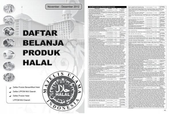 Daftar Produk Halal Mui Profetik