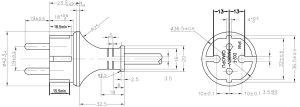 German CEE 717 Schuko IP44 Straight Plug Power Supply Cord