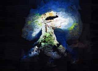 التوضيح,المادة,حرر,منظر للطبيعة,الصورة,اللوحة,قلم من رصاص اللون,القلم للتلوين,الرسم.    يجوف عمود الحجر overabundance النشاط, كهف gul Manjang., نظام أنبوب حمم Geomunoreum., جزيرة بركانية., دور سفلي.