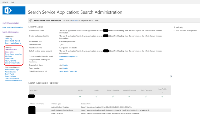 sharepoint search page