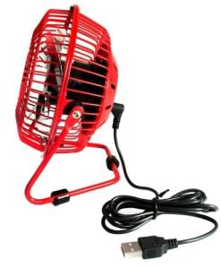 USB Desk Fan - Red