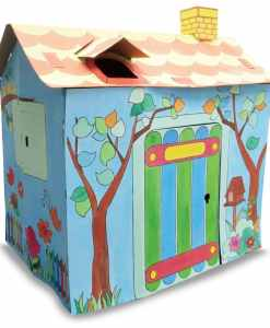 Colour Your Own Cardboard Playhouse