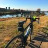 荒川サイクリングロードは耳が切れるほど寒かった