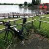梅雨の荒川サイクリングロードでトレーニング