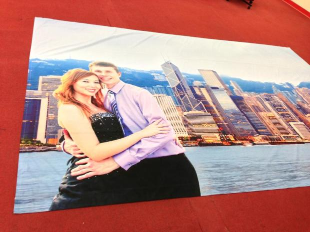 McSmith Wedding backdrop printed