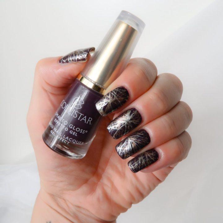 Collistar nailpolish swatched-it purple yustsome nailart borgogne anna natural long nails 5