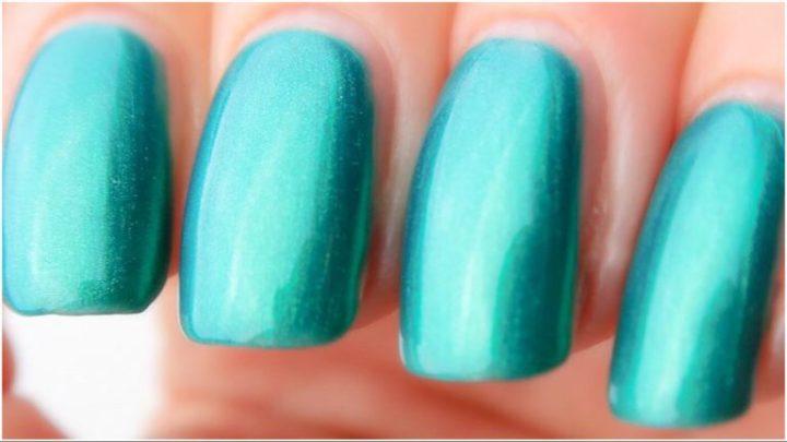 Primark nagellak swatched-it feestelijk groen glitters yustsome 1
