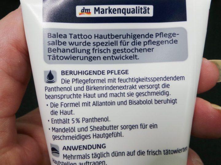 Balea, tattoo, hautpflege, tatoeage, huid, verzorging, crème, direct, gebruik