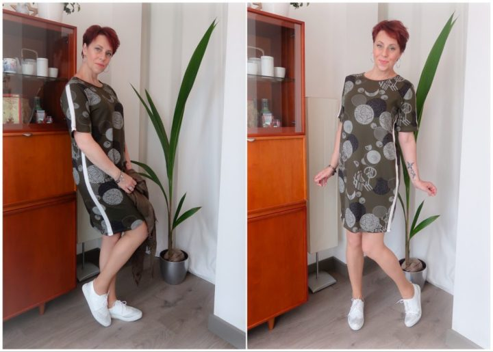 Witte, gympen, sneakers, shoeby, fashion, broches, zilver, yustsome, beauty, fashion, blog, groen, jurkje, grafische, print, modern