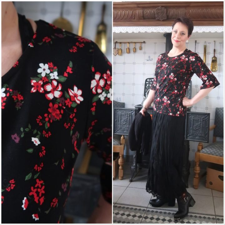 Flowers, bloemen, Miss, etam, shirt, long, skirt, lace, fashion, over, 40, blog, yustsome, roosjes, trend, 2018
