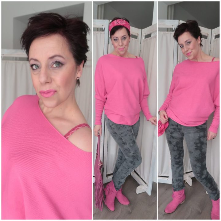 Miss Etam, roze, sweater, vleermuis, mouw, pink, mode, fashion, fashionista, blog, blogger, yustsome