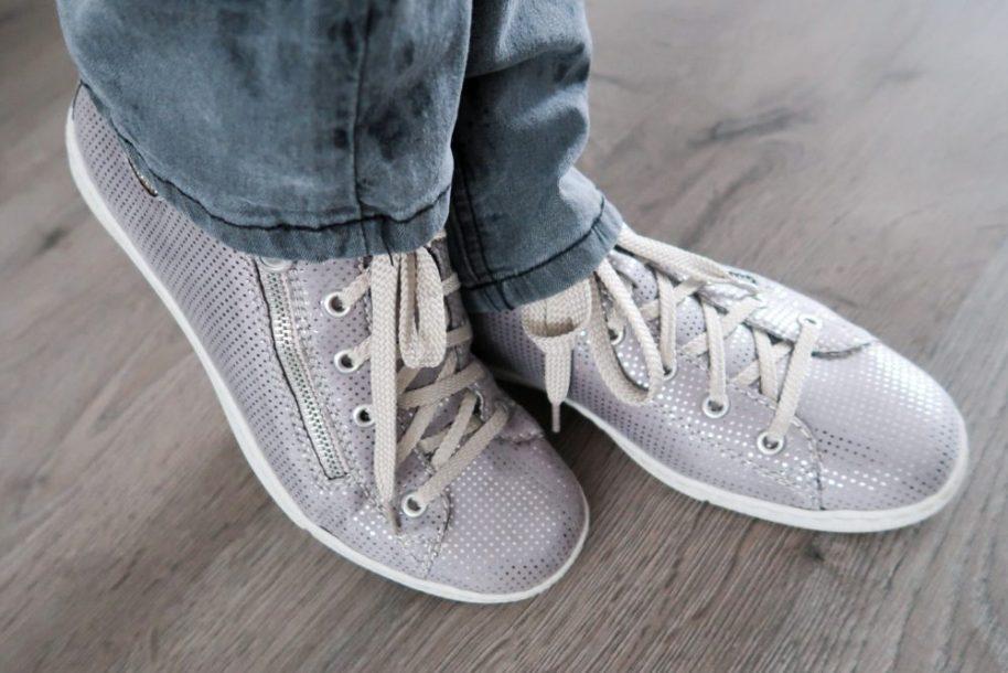 Rieker, sneaker, flexibel, antistress, zilver, grijs, footway, fashion, blog, glimmend, schoenen, yustsome