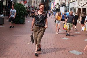 High waist rok in Army groen